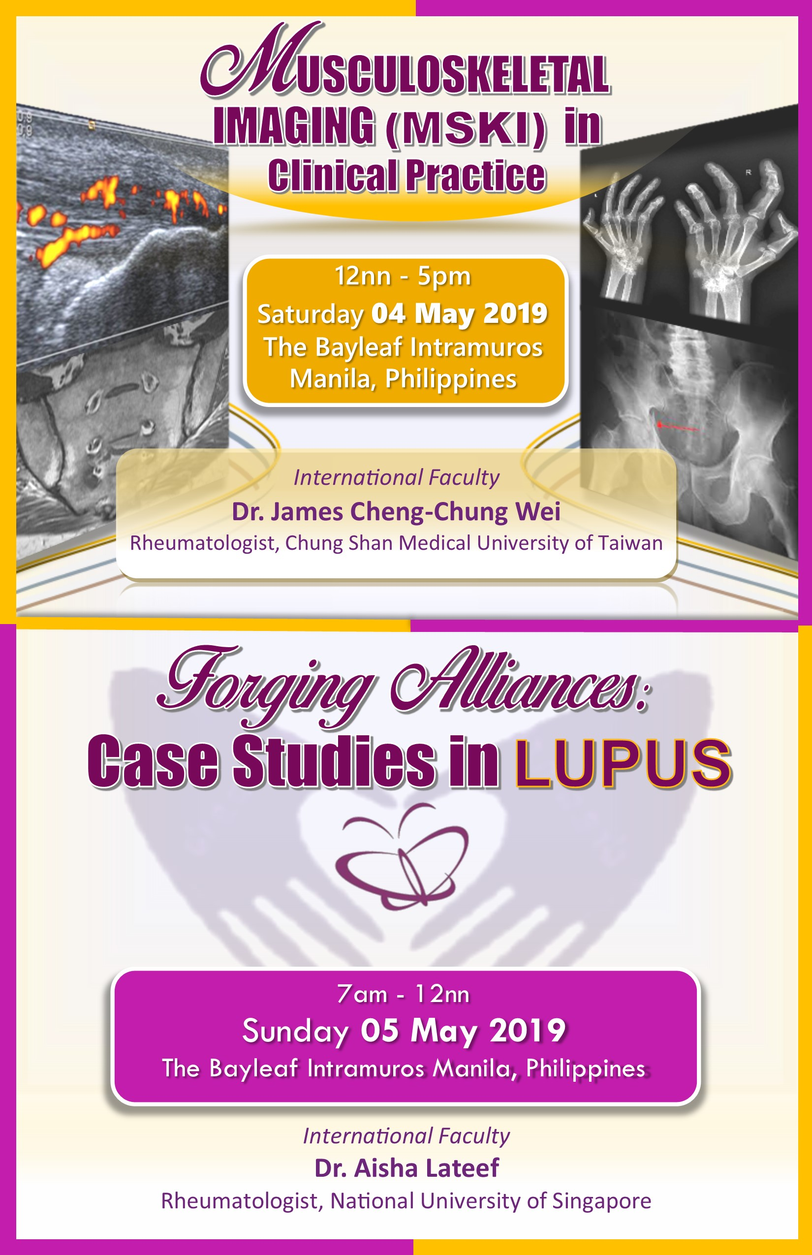MSKI in Clinical Practice / Forging Alliances in LUPUS 2019