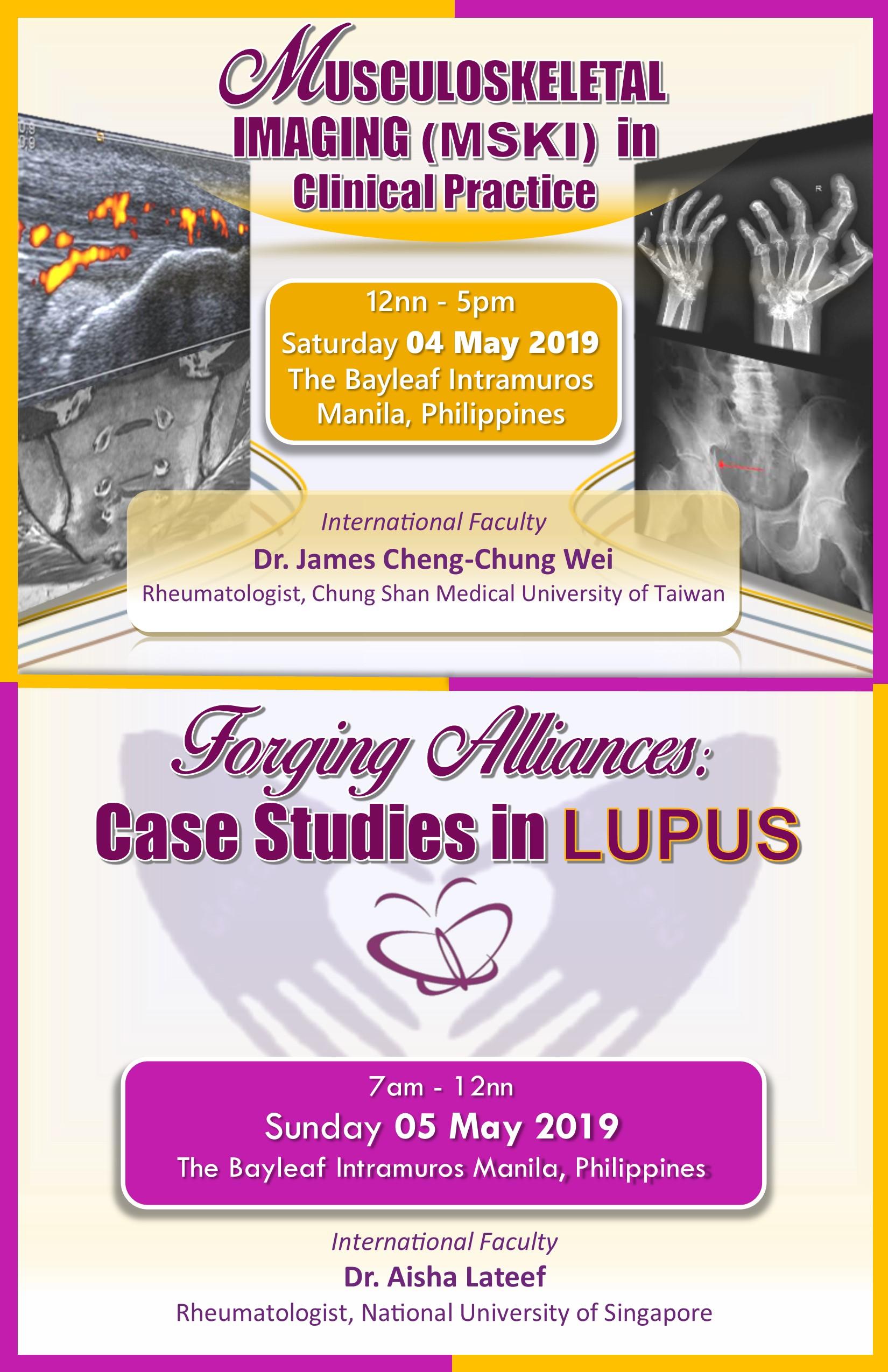 MSKI in Clinical Practice / Forging Alliances in LUPUS 2019